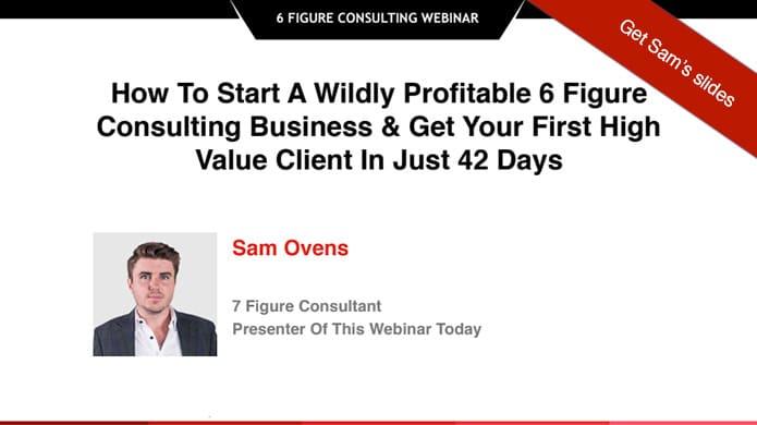 Webinar Marketing: The Sam Ovens Framework
