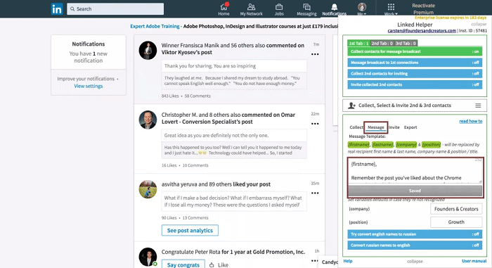 Automated Prospecting on LinkedIn