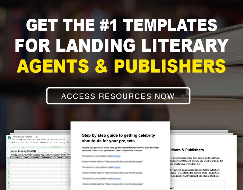 Banner for templates about how to get a literary agent and publisher